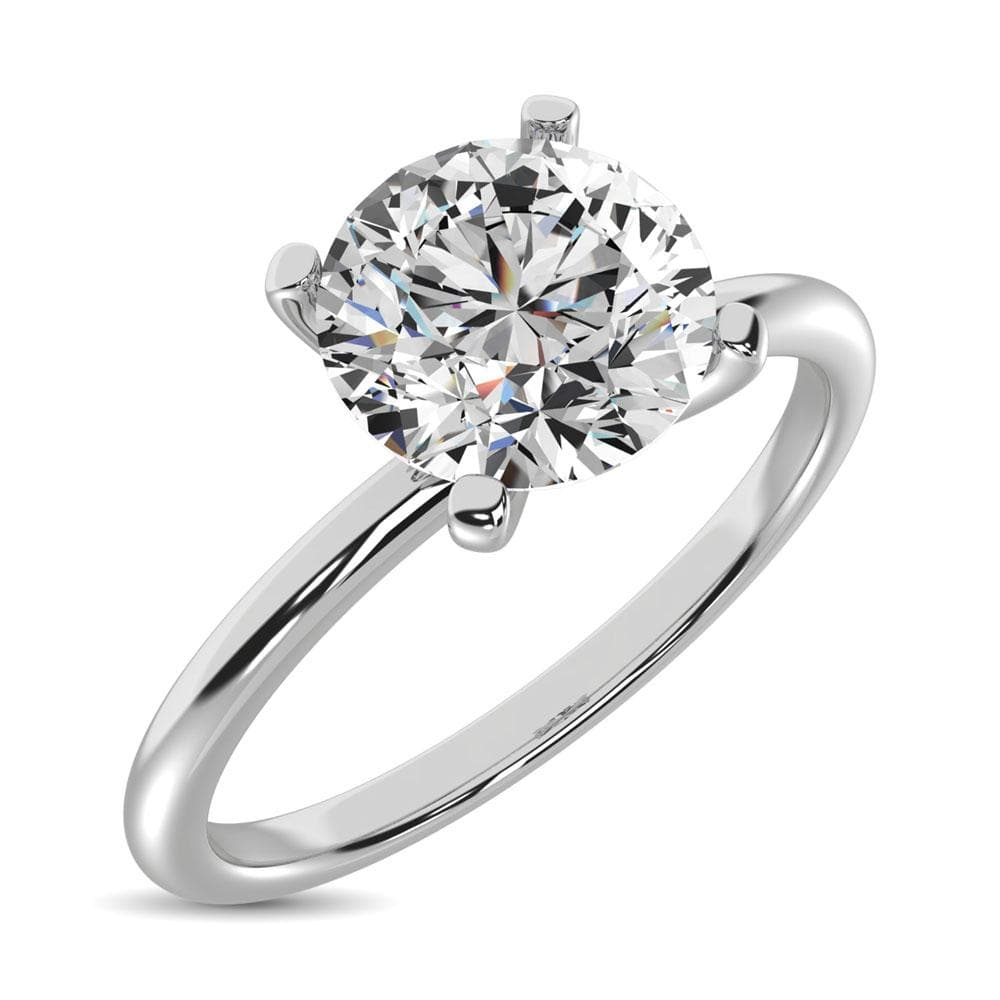 14K White Gold Diamond 1/6 Ct.Tw. Premium Solitaire Ring (5242660323483)
