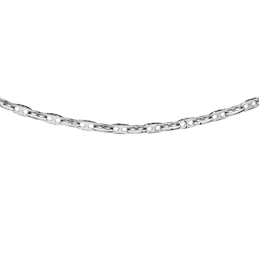 Stainless Steel 8.5 inches Shiny Fancy Joseph Tyler Collection Bracelet with Pear Shap e Clasp (5688360894619)