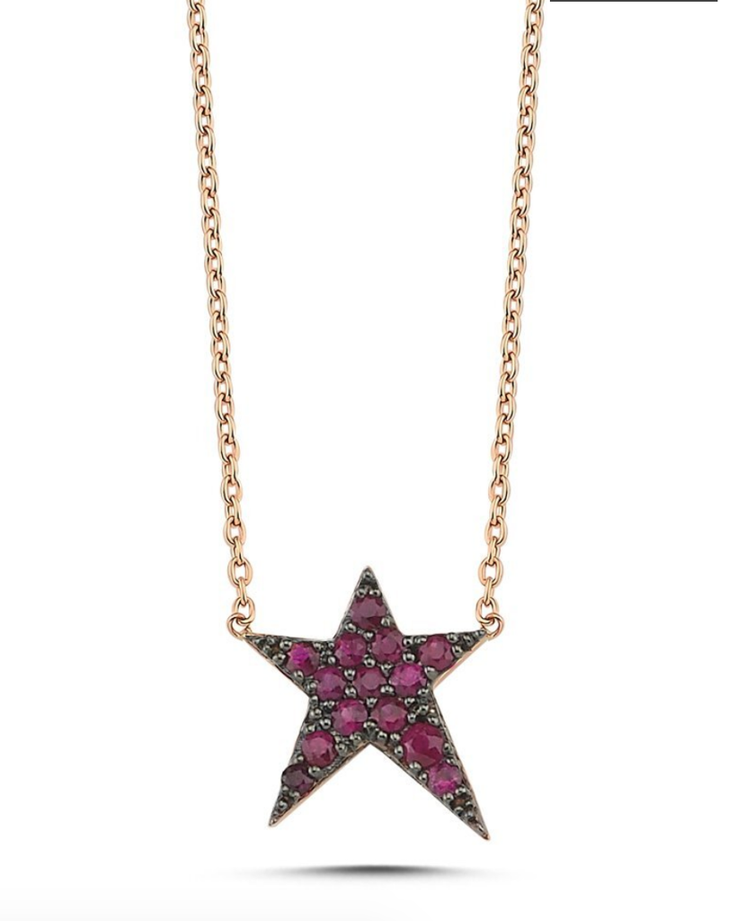 Own Your Story Ruby Rockstar Necklace (5358077837467)