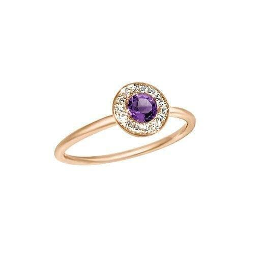 Matthia's & Claire Gemstone Ring With Amethyst and White Diamond Pave (5383512686747)