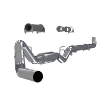 "Load image into Gallery viewer, MBRP Exhaust 4"" Down Pipe Back Single Side Off- Road Exhaust with Muffler 2001-2007 Chevy / GMC 2500, 3500 Duramax 6.6L"