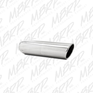 "MBRP Exhaust 4"" OD, 3"" inlet, 16"" in length, Angled Cut Rolled End, Weld on, T304 T5136"
