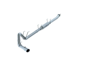 "MBRP 4"" Down Pipe Back, Race System, without bungs, with muffler and tip, 304 SS, 2017-2019 Ford F250/350/450 6.7L  - MBRP"