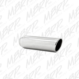 "MBRP Exhaust 3.5"" OD, 2.25"" inlet, 12"" in length, Angled Cut Rolled End, Weld on, T304 T5137"
