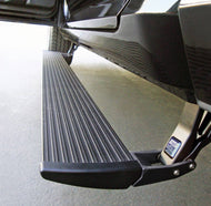 AMP Research PowerStep - Plug-N-Play Black Plug N Play System - includes OEM style illumination <<HD MODELS Factory Air Ride Suspension Requires Air Tank Relocation Kit>> Purchase Kit before installation.