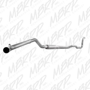 MBRP 4'' Turbo Back, Single Side Exit Exhaust, with muffler, (All excl. EC/LB) 1988-1993 Dodge 2500-3500 5.9L Cummins 4WD