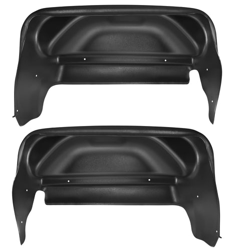 14-18 GMC Sierra 1500/2500 HD/3500 HD Singler Rear Wheels No Rear Wheel Well Guards Black Husky Liners