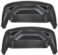 Husky Wheel Well Guards Rear 07-14 Silverado/Sierra Not Dually-Black