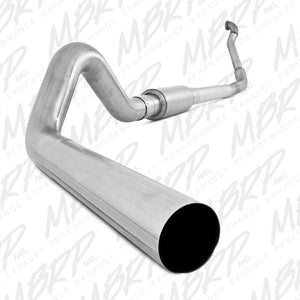 "MBRP Exhaust 4"" Turbo Back Single Side Off-Road,  with muffler, ,Aluminized Downpipe 1994-1997 Ford F-250, F-350 Powerstroke 7.3L"
