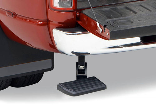 AMP Research BedStep Retractable Bumper Step for 2019 Ram 1500 Classic, 2009-2018 Dodge Ram 1500, 2010-2018 Dodge Ram 2500, 3500 (Excludes Dual Exhaust, EcoDiesel Models)