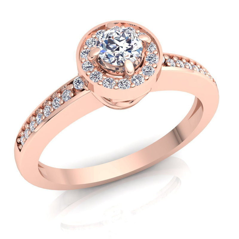 Grace Rose Gold Engagement Ring