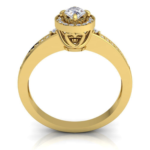 Melanie Yellow Gold Engagement Ring