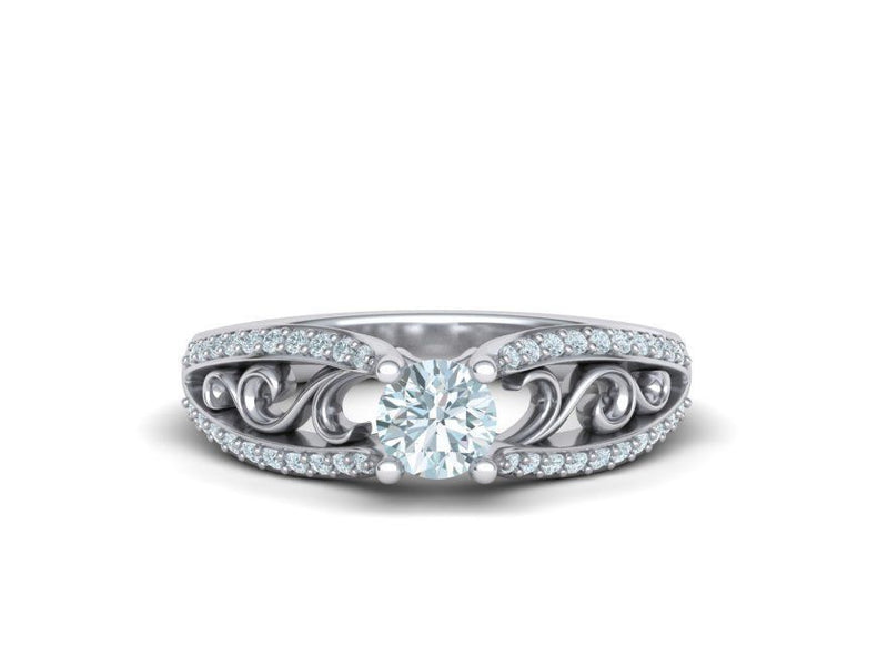 Aurora White Gold Engagement Ring