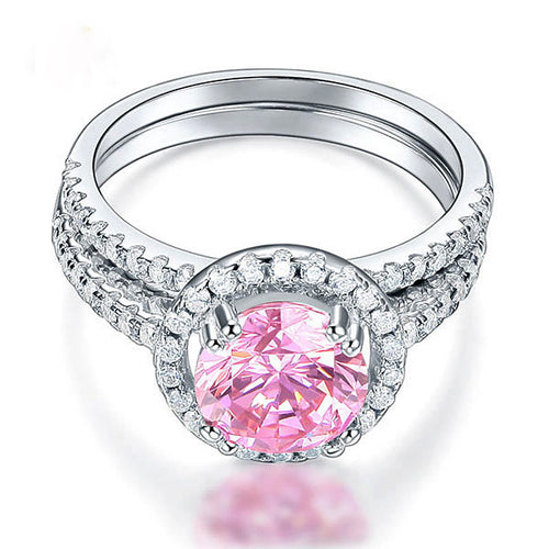 Pink Stone Beauty Engagement Ring