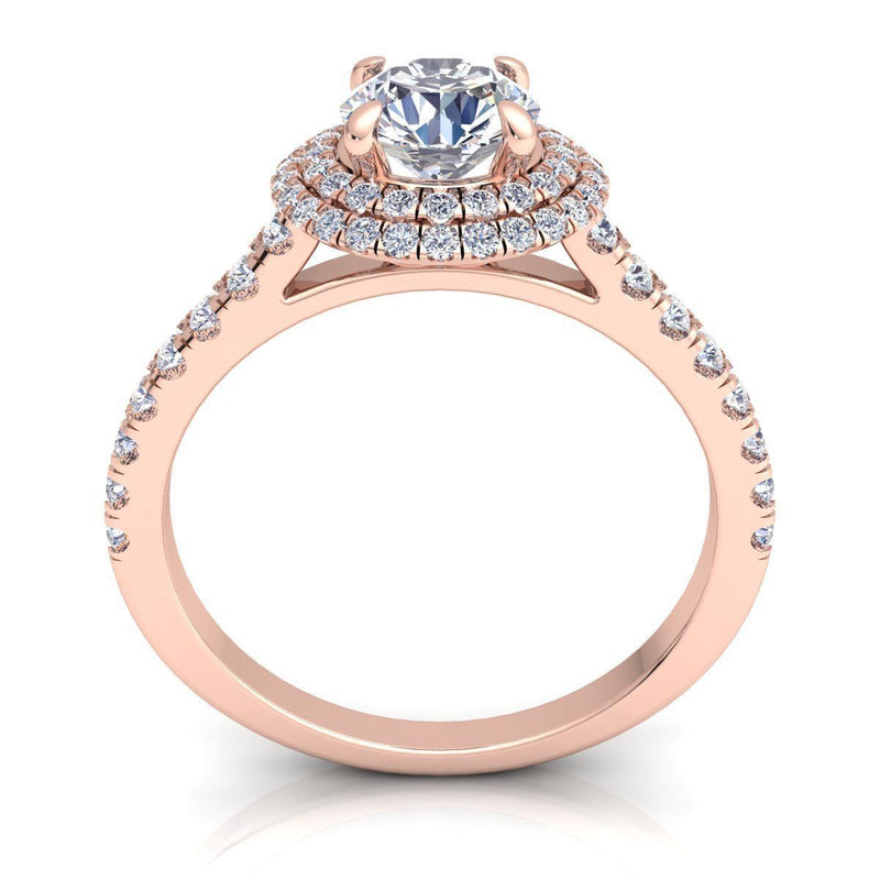 Angelica Rose Gold Engagement Ring
