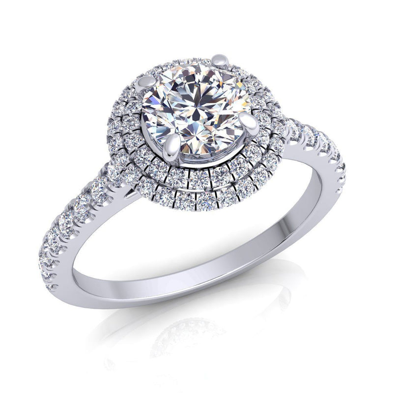Eleanore White Gold Engagement Ring