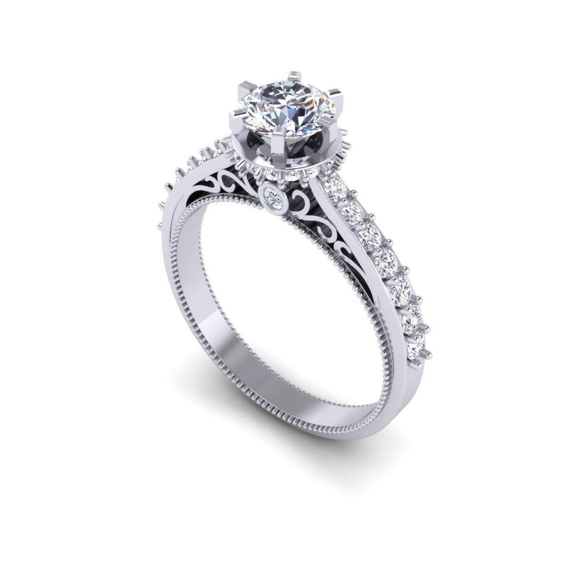 Eliza White Gold Engagement Ring