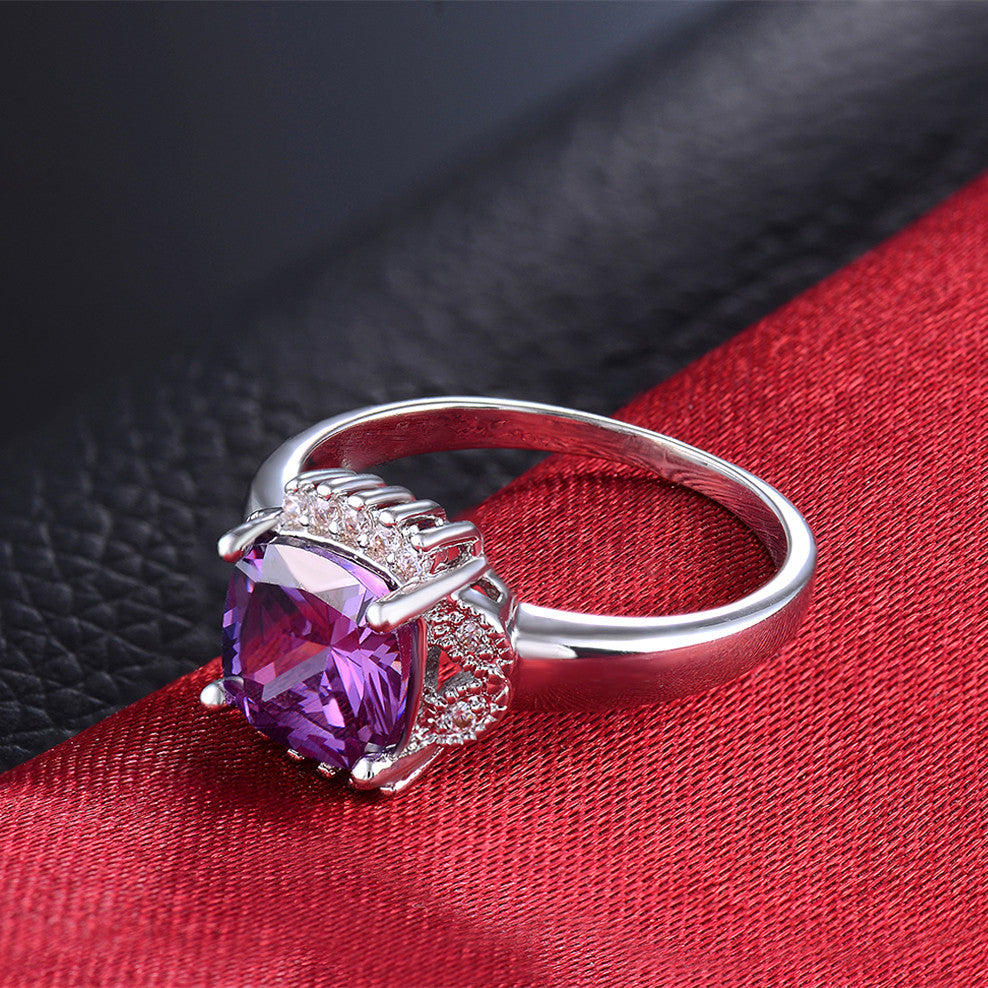 The Amethyst Way Engagement Ring