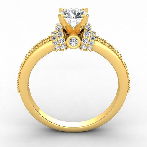 Yellow Gold Engagement Ring 35