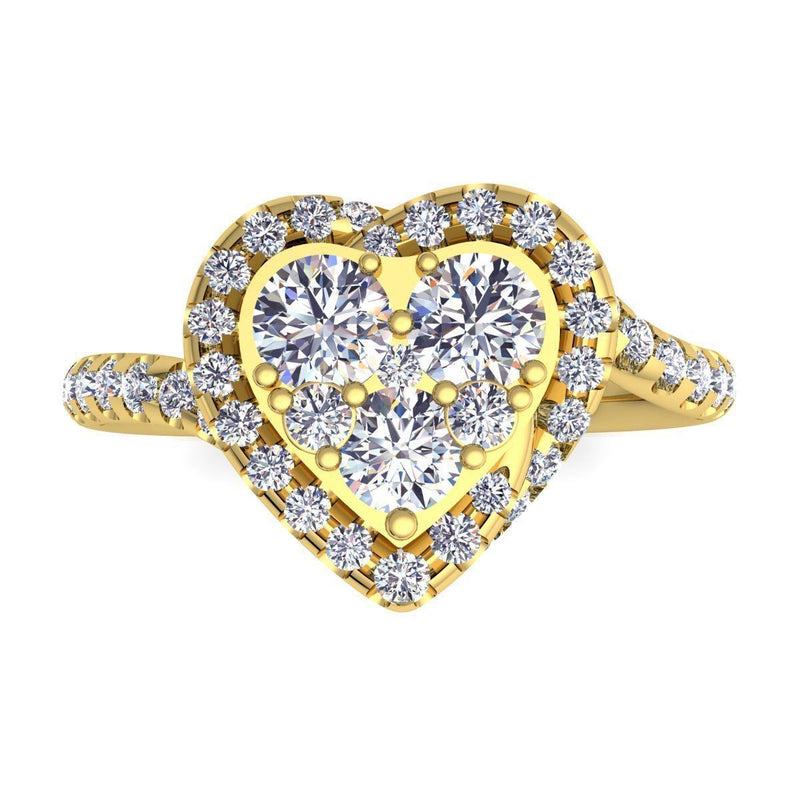 Rachel Yellow Gold Engagement Ring