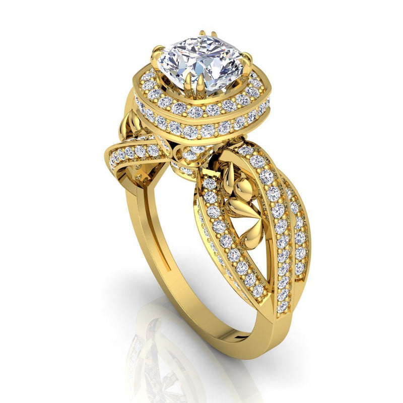 Ann Yellow Gold Engagement Ring