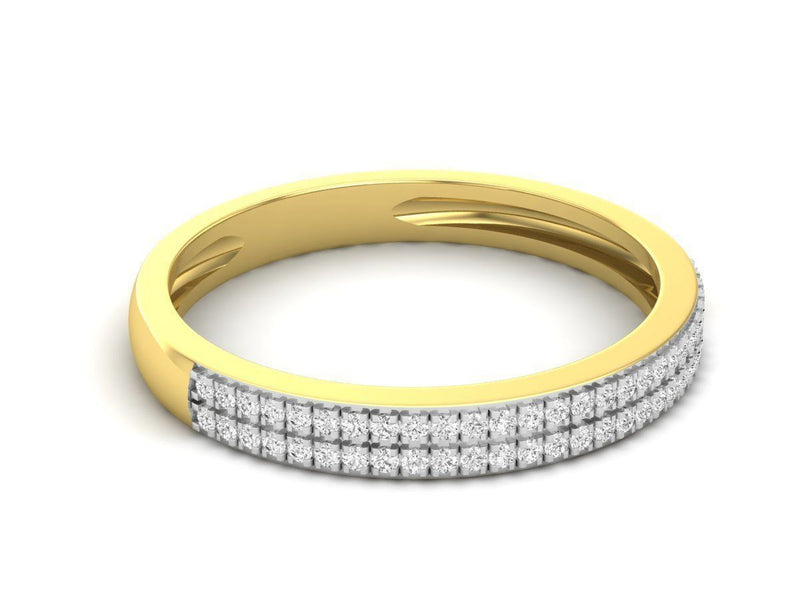 Nyla Yellow Gold Engagement Band 19