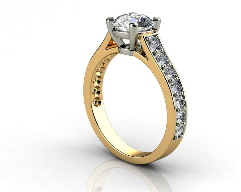 Taline Yellow Gold Engagement Ring