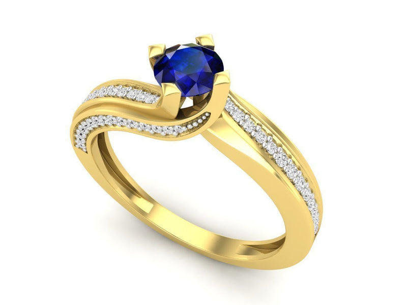 Lilah Yellow Gold Engagement Ring
