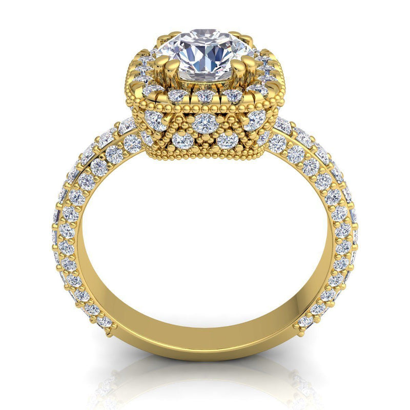 Nataly Yellow Gold Engagement Ring