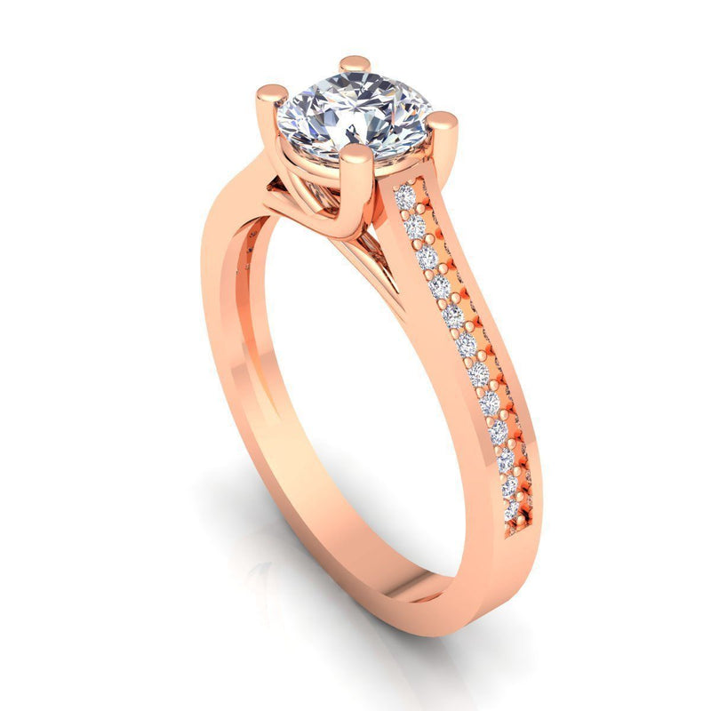Vivian Rose Gold Engagement Ring