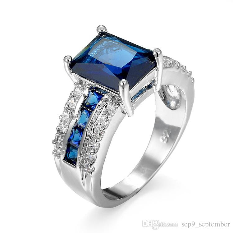 Sapphire Surround Engagement Ring