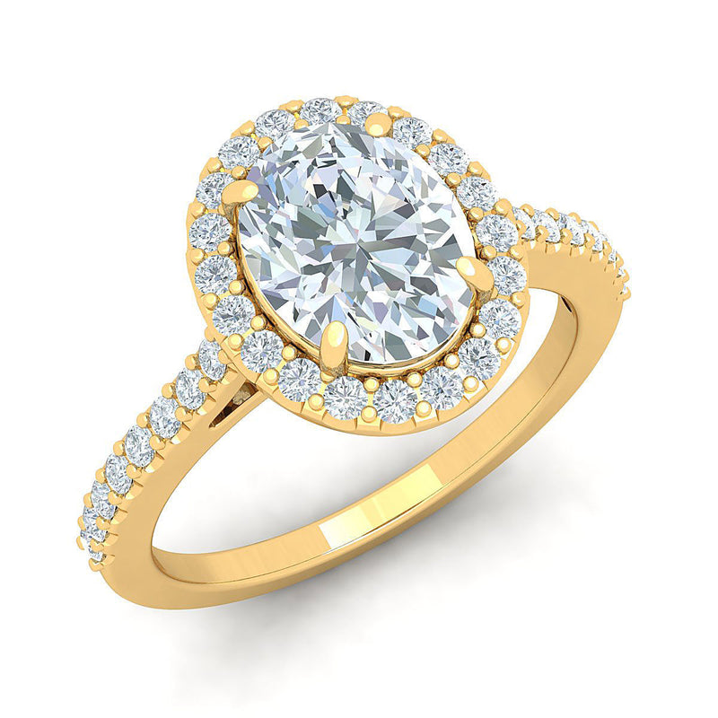 Christine Yellow Gold Engagement Ring