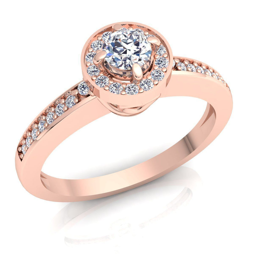 Bailey Rose Gold Engagement Ring