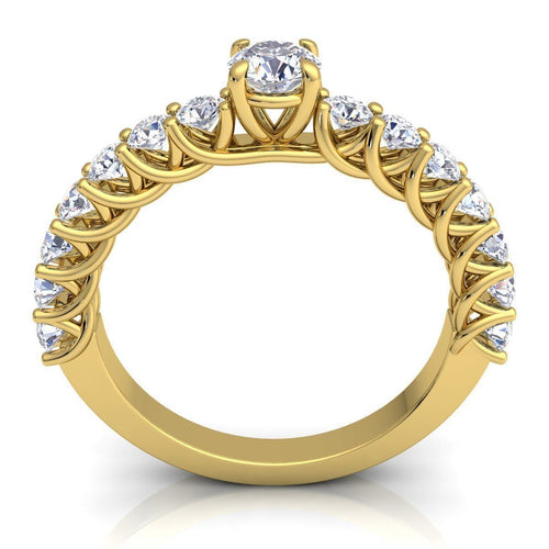 Trinity Yellow Gold Engagement Ring