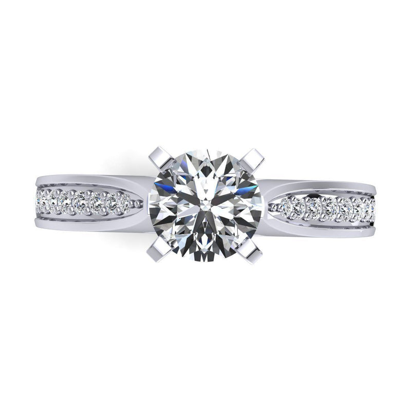Eva White Gold Engagement Ring