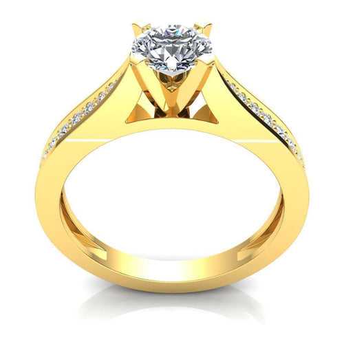 Natalie Yellow Gold Engagement Ring