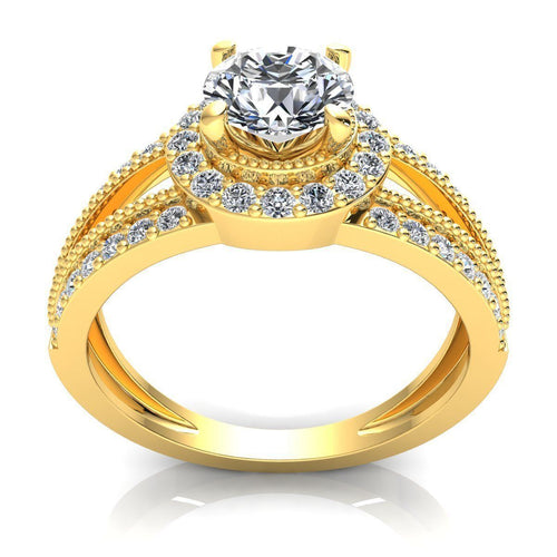 Josephine Yellow Gold Engagement Ring