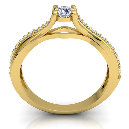 Elaine Yellow Gold Engagement Ring