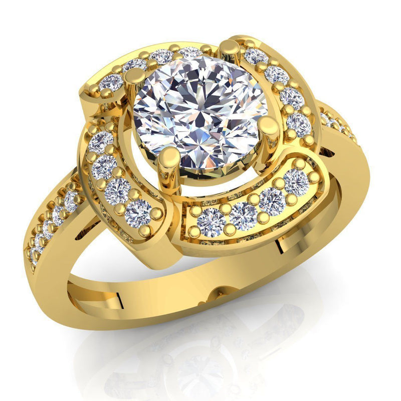 Iris Yellow Gold Engagement Ring
