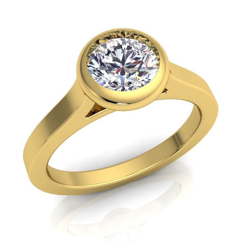 Rose Yellow Gold Engagement Ring