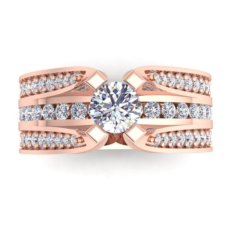 Eleanor Rose Gold Engagement Ring