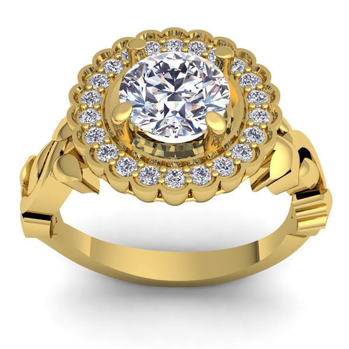 Miley Yellow Gold Engagement