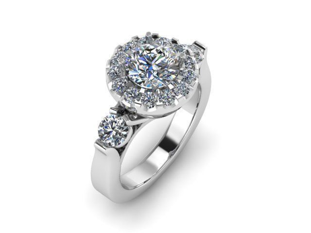 Eden White Gold Engagement Ring