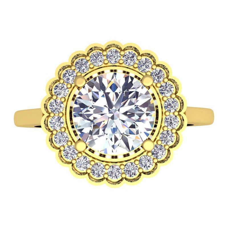 Bridgett Yellow Gold Engagement Ring