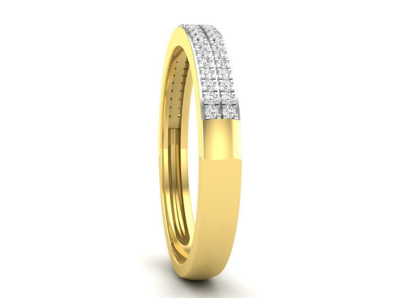 Yellow Gold Band 8
