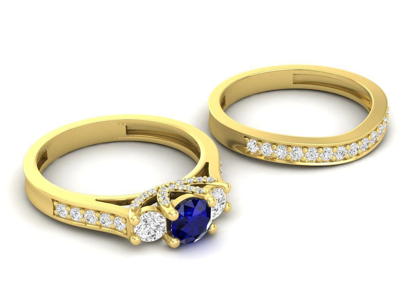 Sapphire Yellow Gold 53