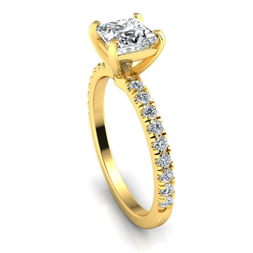 Callie Yellow Gold Engagement Ring