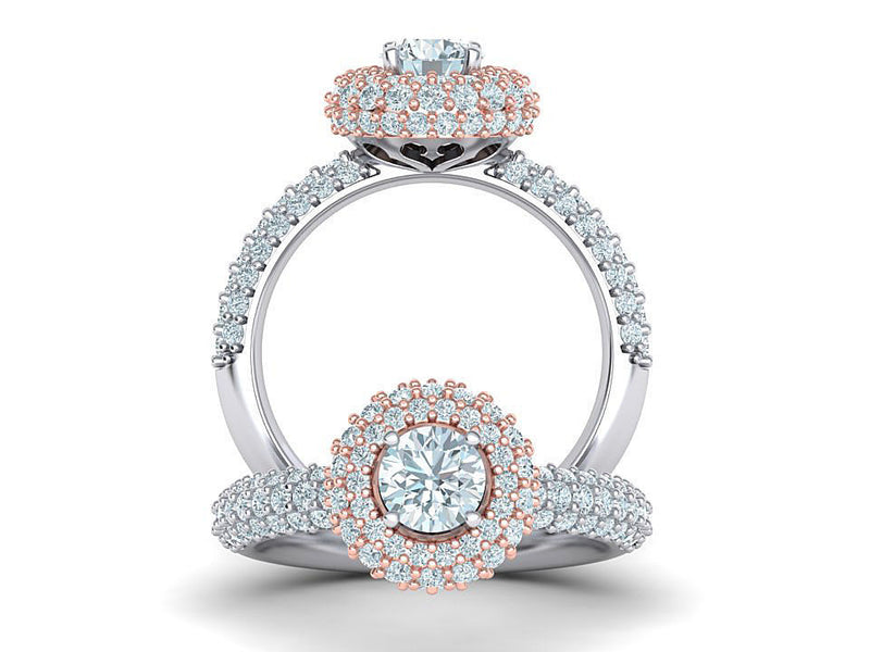 White Gold Majesty Engagement Ring