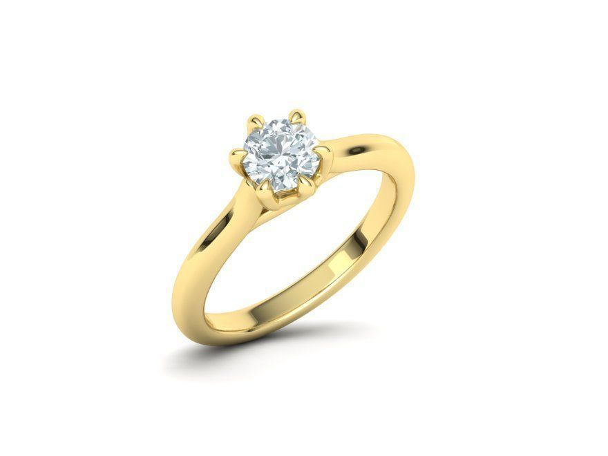 Layla Yellow Gold Engagement Ring