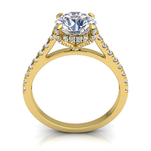 Aria Yellow Gold Engagement Ring